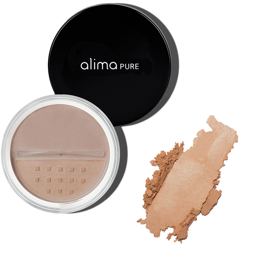 Alima Pure Radiant Finishing Powder for light coverage and flawless looking skin with natural mineral makeup
